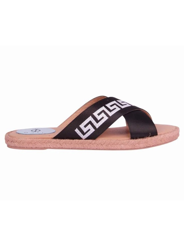 Phi-male Ciao - Black CROSSOVER ESPADRILLE SANDAL