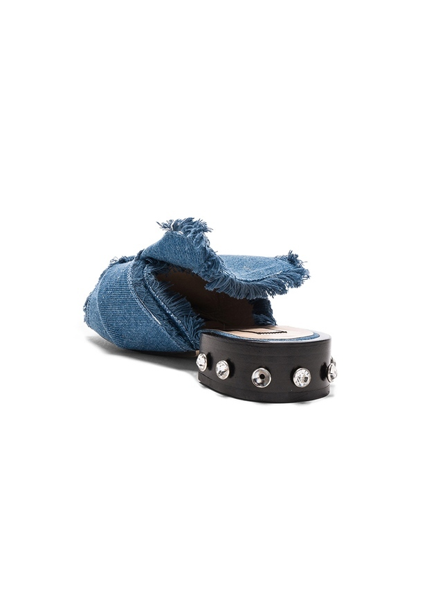 No. 21 Bow Denim Mules