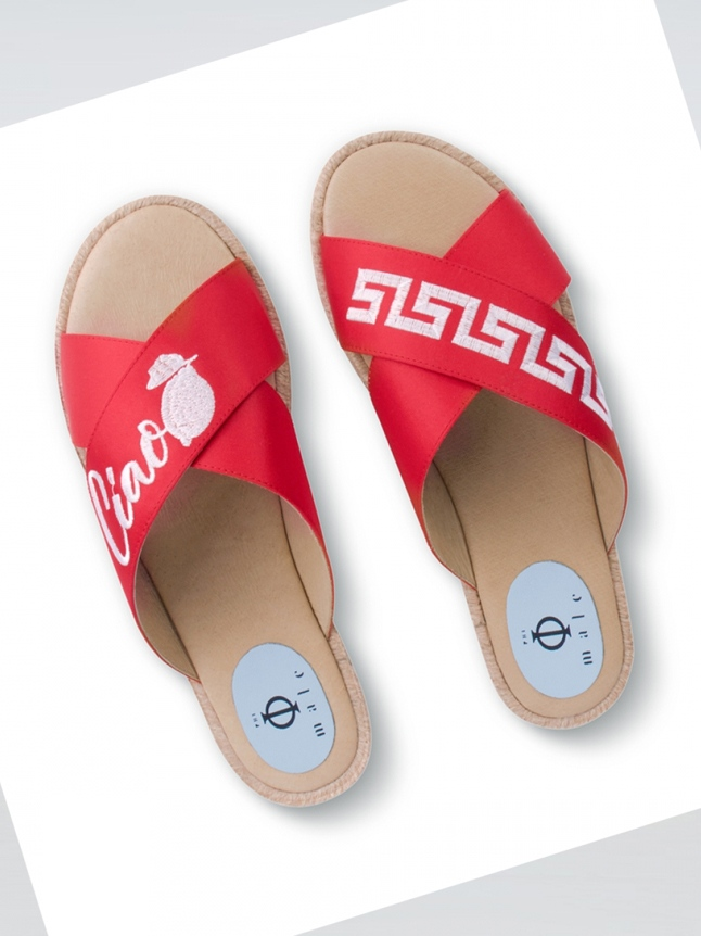 Ciao - Red CROSSOVER ESPADRILLE SANDAL