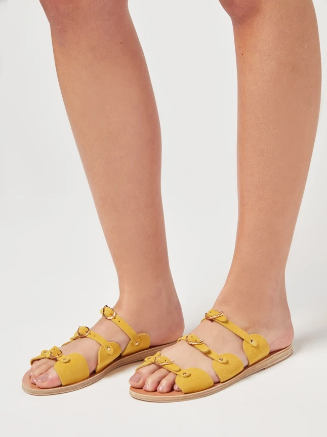 ANCIENT GREEK SANDALS Kyklos Crosta Yellow