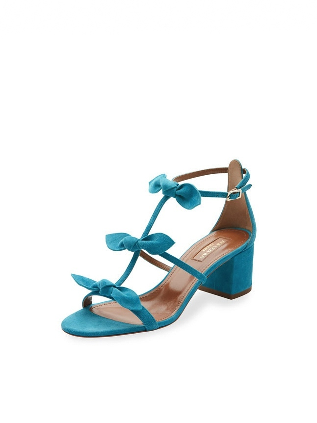 AQUAZZURA Saint Tropez Sandals in Turquoise