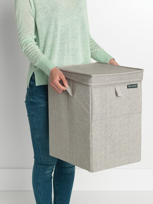 Stackable Laundry Box, 35L Grey